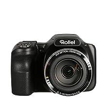"""Rollei Powerflex 350 WiFi - Caméra avec Super Zoom 35x, Capteur CMOS SONY 16 mégapixels, Ecran couleur TFT 3"""", Vidéo Full HD, 26 modes scène - Noir"""
