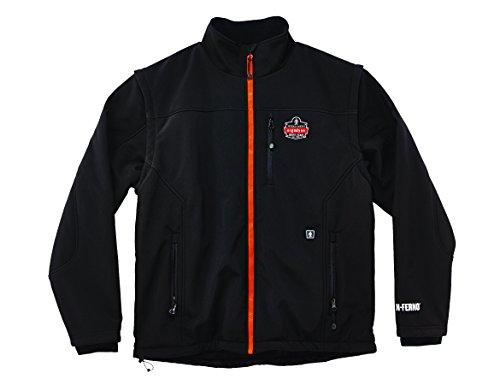 Ergodyne N-Ferno® 6490j Beheizte Ersatz Jacke mit abnehmbaren Ärmel, 41307 (Laser Kit Red)