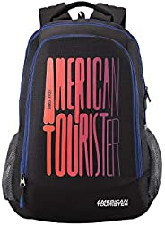 American Tourister 51 cms Black Casual Backpack (AMT Fizz SCH Bag 03)(33cms x 22cms x 51cms)