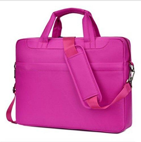 Swallowuk Laptop-Handtasche, Männer groß-Kapazität Business Aktenkoffer Aktenkoffer Rot