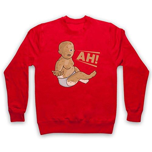 ng Peanut Butter Baby Erwachsenen Sweatshirt, Rot, Small ()
