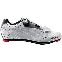 Fizik R5Uomo Boa. Zapatos para Ciclismo de Carretera, Hombre, White/Light Grey
