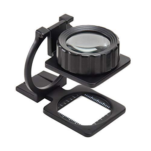 Lupen Lupen Lesen (Mufly Tuch-Vergrößerungsglas mit Maßstab, faltende Lupe,15X Verstellbarem Lupe für Brillenträger, Lesen, Nähen, Handwerk, Juweliere, und Reparatur(15 Dioptrien))