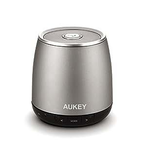 AUKEY® Tragbarer Wireless Bluetooth Lautsprecher Mini Bluetooth Lautsprecher, 3,5mm Klinkenstecker, mit Mikrofon, wiederaufladbarem Akku für iPhone
