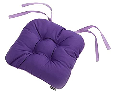 Plain And Simple Kitchen Textile Range Purple Haze Pack Of 4 Seat Pads (16in x 16in - 40cm x 40cm Approx)