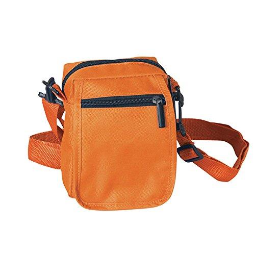 Kleine Handtasche Umhängetasche Tasche Geldbörse Brustbeutel Herrenhandtasche Orange