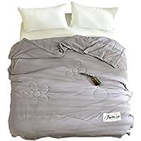 Bettwäschegarnituren Kompliziert Paisley-style Silbergrau Baumwollmischung Einzelbett Bettbezug