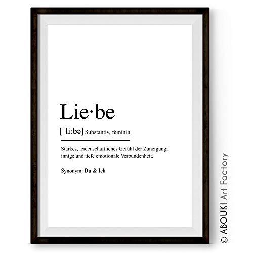 Definition LIEBE - Kunstdruck ungerahmt, DIN A4