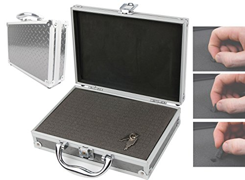Preisvergleich Produktbild Koffer aus Aluminium mit zuschneidbarem Schaum für Ihren Philips DVT6000 Digitales Diktiergerät mit 3 Mic Auto Zoom+, Bewegungssensor - von DuraGadget