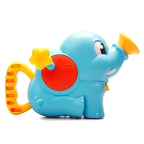 mi ji Juguete para baño de bebé Juguete para rociar Agua con Chorro de Agua Juguete de Ducha de Elefante Chorro de Agua Bomba de Agua para niños Juguete acuático(Azul)