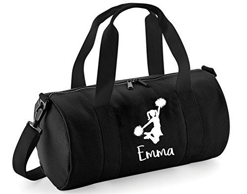 Cheerleading-Sporttasche für Mädchen, personalisierbar, Black / White Print, Einheitsgröße