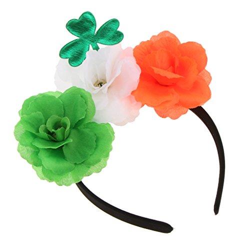 Blesiya Blatt Blumen Stirnband Mädchen Frau Kostüm Kostüm Saint Patrick Party Zubehör (Saint Dress Up Kostüm)