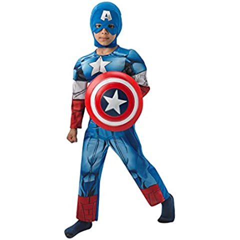 Rubie's - Disfraz infantil, diseño Capitán América de Marvel, talla L (3610262)