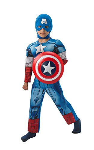 Stern Kostüm Uk Kinder (Rubies 3610262 - Captain America Deluxe Child,)