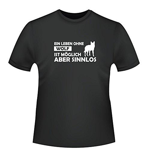 Ein Leben ohne Wolf ist möglich aber sinnlos, Herren T-Shirt - Fairtrade - ID104692 Schwarz