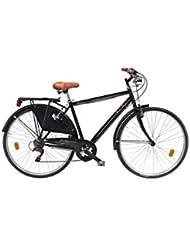 LlNEA GIANNI BUGNO Bicicleta Steel Retro Negro