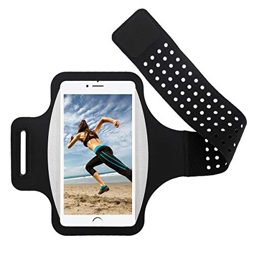 Sportarmband Handyhülle Sports Armband für iPhone XS MAX/XS/XR/8 Plus/7 Plus, Universal Running Fitness Armbänder Wristband für Samsung Galaxy S9/S8/S7 Plus Edge, Note 8, Huawei Xiaomi LG bis 6.0 Zoll Sport-armband-halter