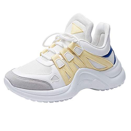 Meilleure Vente!Baskets Femmes,LuckyGirls Mixte Adulte Homme Femme Air Casual Baskets Chaussures de Course Sneakers Outdoor Running Sports Fitness Gym Respirante Shoes 35-43
