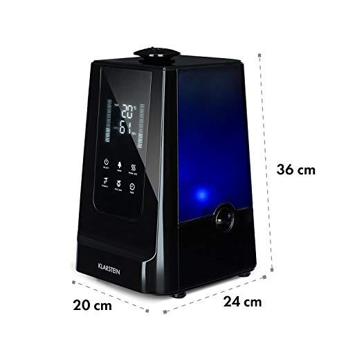 Klarstein VapoAir Humidificador de Aire 2 en 1 • Vaporizador de Aire y Ionizador • Silencioso • 5,5 litros Depósito • Mando Distancia • 350 ML/h • Negro