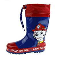 Paw Patrol Boys Tie Top Wellington Boots