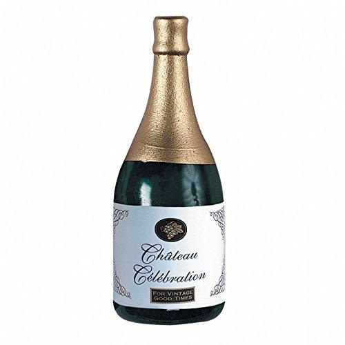 Amscan - Peso per palloncino a forma bottiglia di Champagne (Taglia unica) (Oro/Verde/Bianco)
