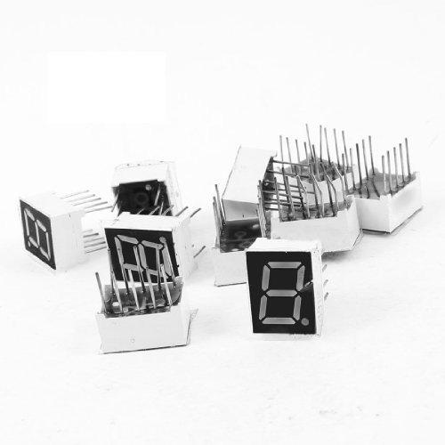 "SODIAL (R) 10 Stueck Gemeinsame Kathode 10 Pin 1 Bit 7 Segment 0.39 \""Rote LED-Anzeige digital Rohr"