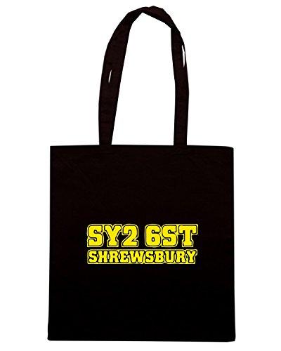 T-Shirtshock - Borsa Shopping WC1190 shrewsbury-town-postcode-tshirt design Nero