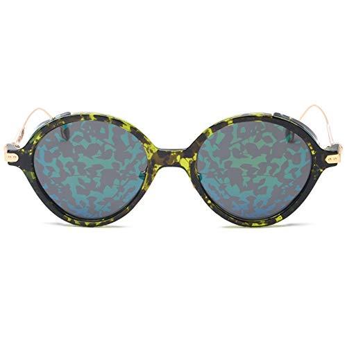 ETH UV400 Female Polarized Sonnenbrillen Creative Pattern Color Film Driver Sonnenbrillen dauerhaft (Farbe : Green)