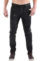 Diesel Herren Jeans Tepphar R660X (Stretch), Passform  Slim-Carrot, Farbe   Black Coated (Schwarz… 58f9b31c45