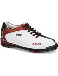 Dexter SST 8LE–Zapatos de bolos para mujer - 1001-9, 8.5 US, Blanco/rojo/negro