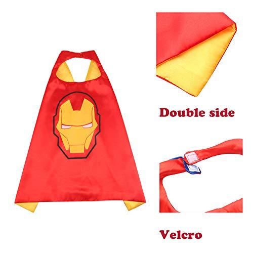 DREAMWIN Capa de Superhéroe para Niños -  5 Capa y 5 Máscaras y 5 Pulseras,  Cosplay de Superhéroe,  Ideas Kit de Valor de Cosplay
