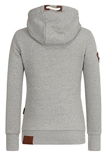 Naketano - Sweat-shirt - Uni - Femme Gun Smoke Grey Melange