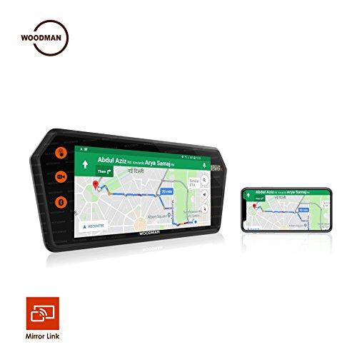 Woodman USB and Bluetooth Smart Screen Mirroring Full HD LED Car Monitor, 7-inch, (Black, SmartScreen_WM_VMS1)