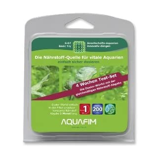Aquafim S-07 Basic 4-Wochen Test-Set bis 200 L - 2in1 Dosier-Würfel & Liquid