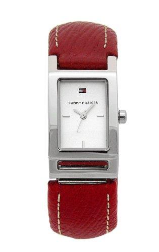 Tommy Hilfiger - 1700376 - Montre Femme - Quartz - Analogique - Bracelet Cuir Rouge