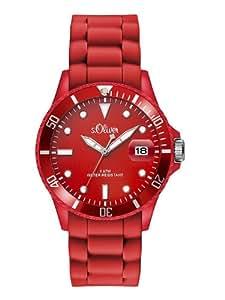 s.Oliver Damen-Armbanduhr Analog Quarz Silikon SO-2739-PQ
