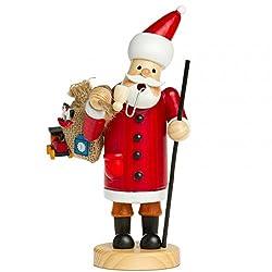 Sikora Räuchermännchen aus Holz - Serie A - 3 Größen S bis XL - Verschiedene Motive, Farbe/Modell:A01 rot - Weihnachtsmann, Größe:Höhe ca. 15 cm