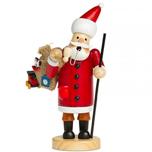 SIKORA Räuchermännchen aus Holz Serie A - 2 Größen - verschiedene Motive, Farbe Modell RM:A01 rot - Weihnachtsmann;Größe RM:Höhe ca. 15 cm