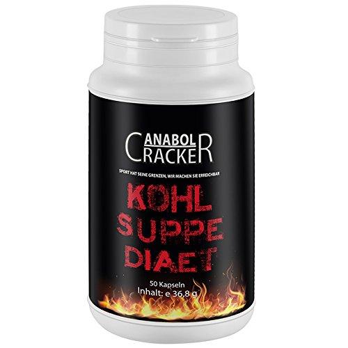 Kohlsuppe 50 Kapseln - bestes Diät Produkt mit Vitaminen / Abnhemen Fettverbrennung Fatburner kohlsuppenkapseln