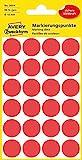 AVERY Zweckform 3004 selbstklebende Markierungspunkte (Ø 18 mm, 96 Klebepunkte auf 4 Bogen, runde Aufkleber für Kalender, Planer und zum Basteln, Papier, matt) rot