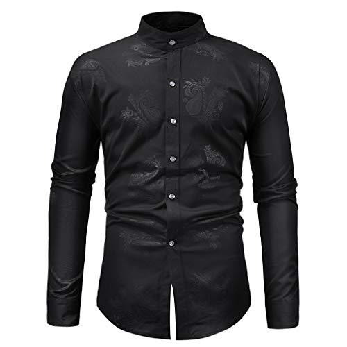 Uomo camicia slim fit cotone t-shirt uomo primavera e autunno maniche lungo colletto dritto s m l xl qinsling