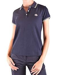 MONCLER Femme MCBI212090O Bleu Coton Polo 7cd87d3cc1a