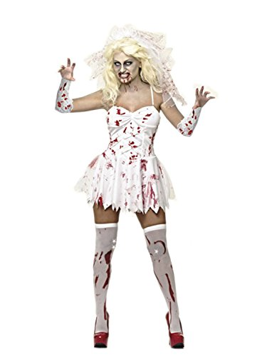Sexy Zombie (Blutbefleckt Braut Kostüm - für Damen - Kostüm lediglich -)