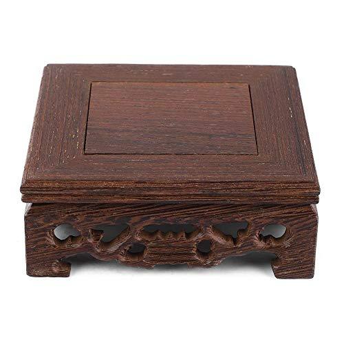 Biitfuu banchi di mostra in legno pratico vaso per teiera con base per bonsai per la decorazione di uffici domestici(10 * 10 * 3.7)