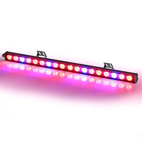 Toplanet Led Pflanzenlampe 54w LED Grow Bar 55cm Rot & Blau Wachstumslampe Pflanzenlicht Streifen für Indoor Grow