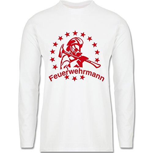 Feuerwehr - Feuerwehrmann - Longsleeve / langärmeliges T-Shirt für Herren Weiß