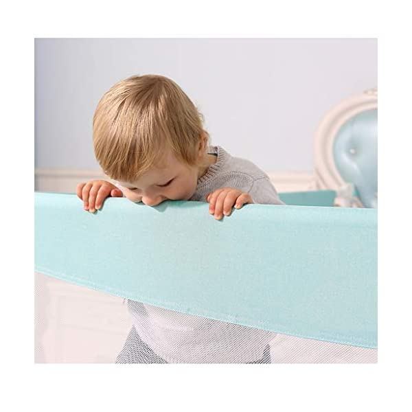 Playpens Crib Guardrail Baby Shatter-resistant Fence Large Bed 1.2-2.0 Meters Children Against Bedside Baffle (Size : 1.5m) Playpens ★ high quality non-toxic materials,Size:120cm/150cm/180cm/200cm/220cm ★ Vertical lift structure: no space is occupied, and it is more convenient to enter and exit. Push the fence down at the push of a button ★ height adjustment: can be adjusted according to the thickness of the mattress, so that the bed is close to the mattress. Avoid gaps between the mattress and the guardrail to prevent your child from falling 13