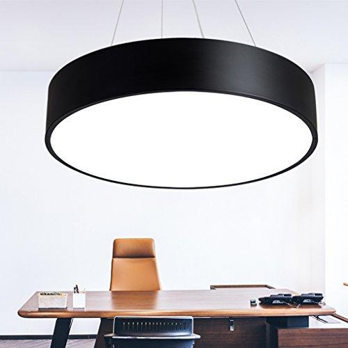 Rund LED Büro Hängeleuchte Schwarz Eisen Acryl Kronleuchter Bar Shops  Pendelleuchte Modern Minimalismus Kunst Wohnzimmer Esszimmer Schlafzimmer  Studie ...