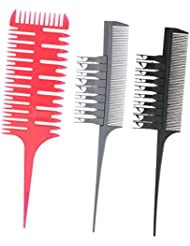Sharplace Tissage et Sectionnement Déjouer Peigne pour la Coloration des Cheveux, Soulignant, Balayage, Microbraiding...