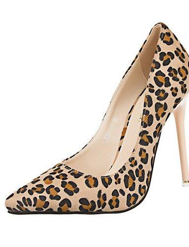 WSS 2016 Chaussures Femme-Décontracté-Marron / Amande-Talon Aiguille-Talons-Talons-Laine synthétique almond-us8 / eu39 / uk6 / cn39